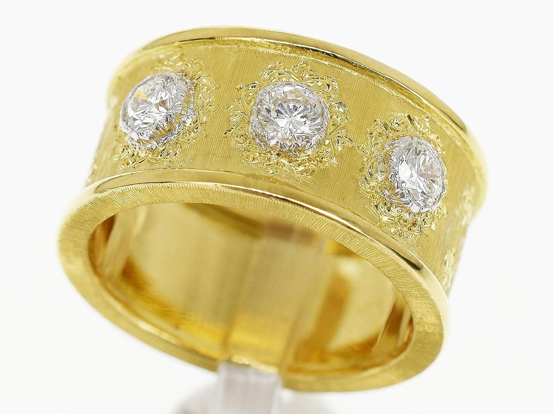 (ジャンマリアブチェラッティ) GIANMARIA BUCCELLATI ダイヤ(D0.39cts) ゴールド リング 18K 750 YG WG イエローゴールド ホワイトゴールド 日本サイズ約8号 48 証明書 29971201 B07DWL93ZS