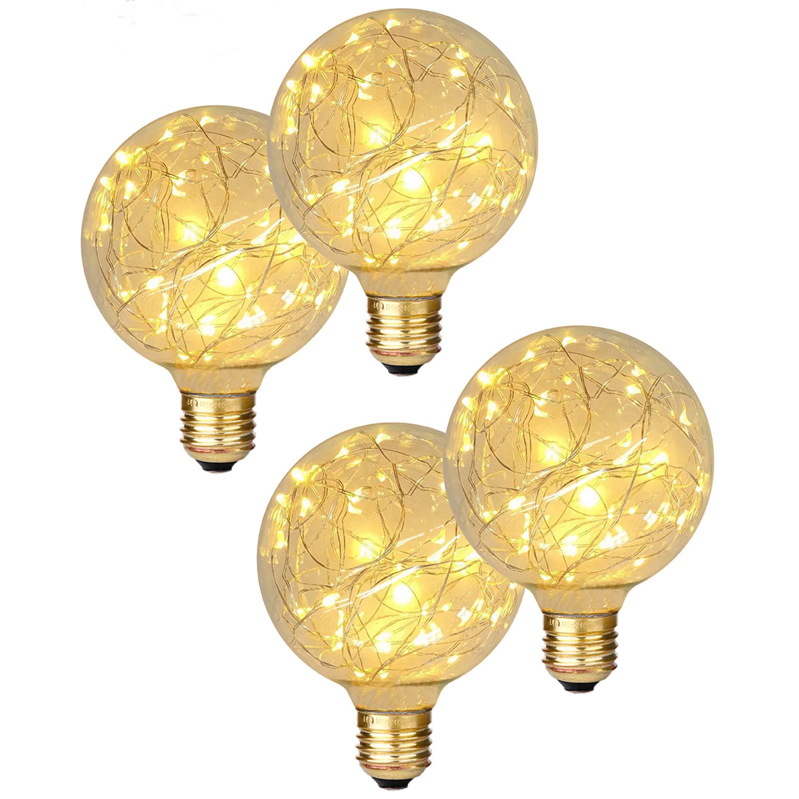 Mua Beilf Copper Wire String Globe Led Fairy Light Bulb G30 G95 E26 Base 2w Soft Warm White 2200k Specialty Bulbs For Decorating 4 Pack Trên Amazon Mỹ Chính Hãng 2021 Fado
