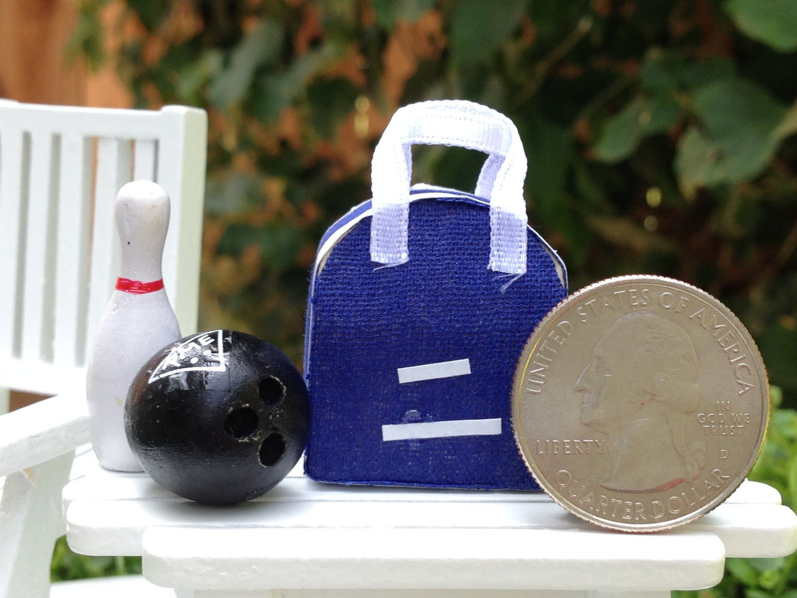 Miniature Dollhouse Fairy Garden Accessories Bowling Bag With Pin & Ball by Miniature (Image #2)