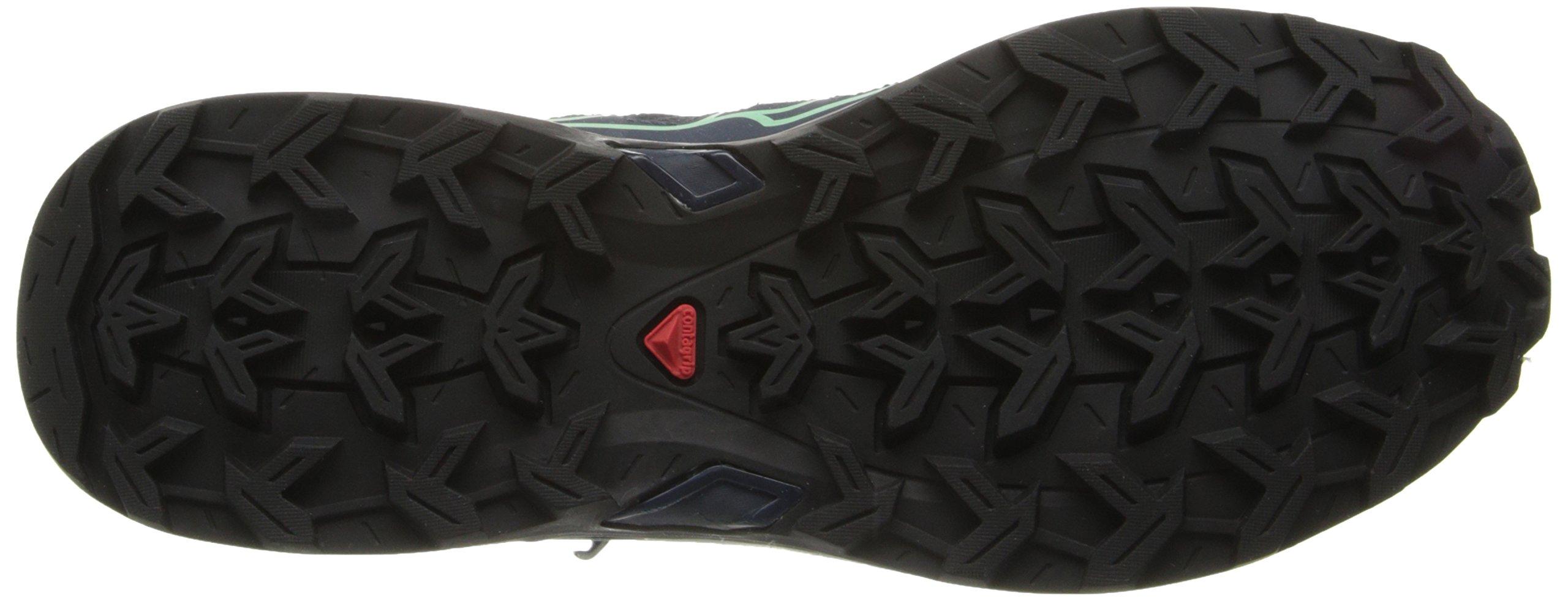Salomon Women's X Ultra Mid 2 GTX Hiking Shoe, Grey Denim/Deep Blue/Lucite Green, 9 M US by Salomon (Image #3)