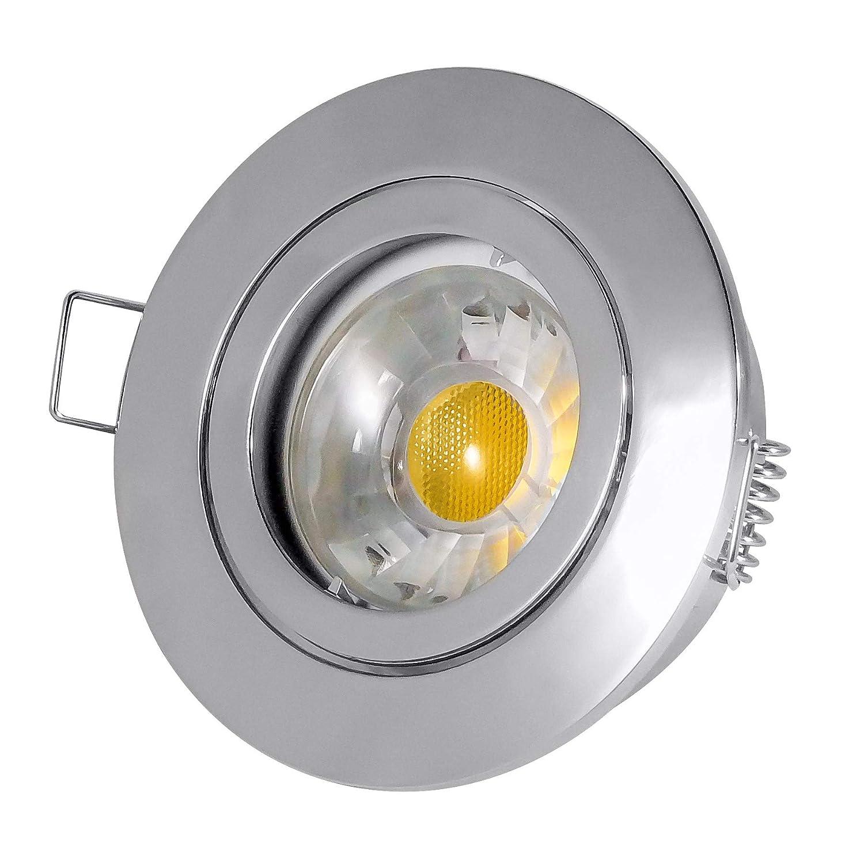 Encastrable, Spot Pluto–Chromé–4W verre–280Lm COB LED blanc froid–230V/GU10–5x