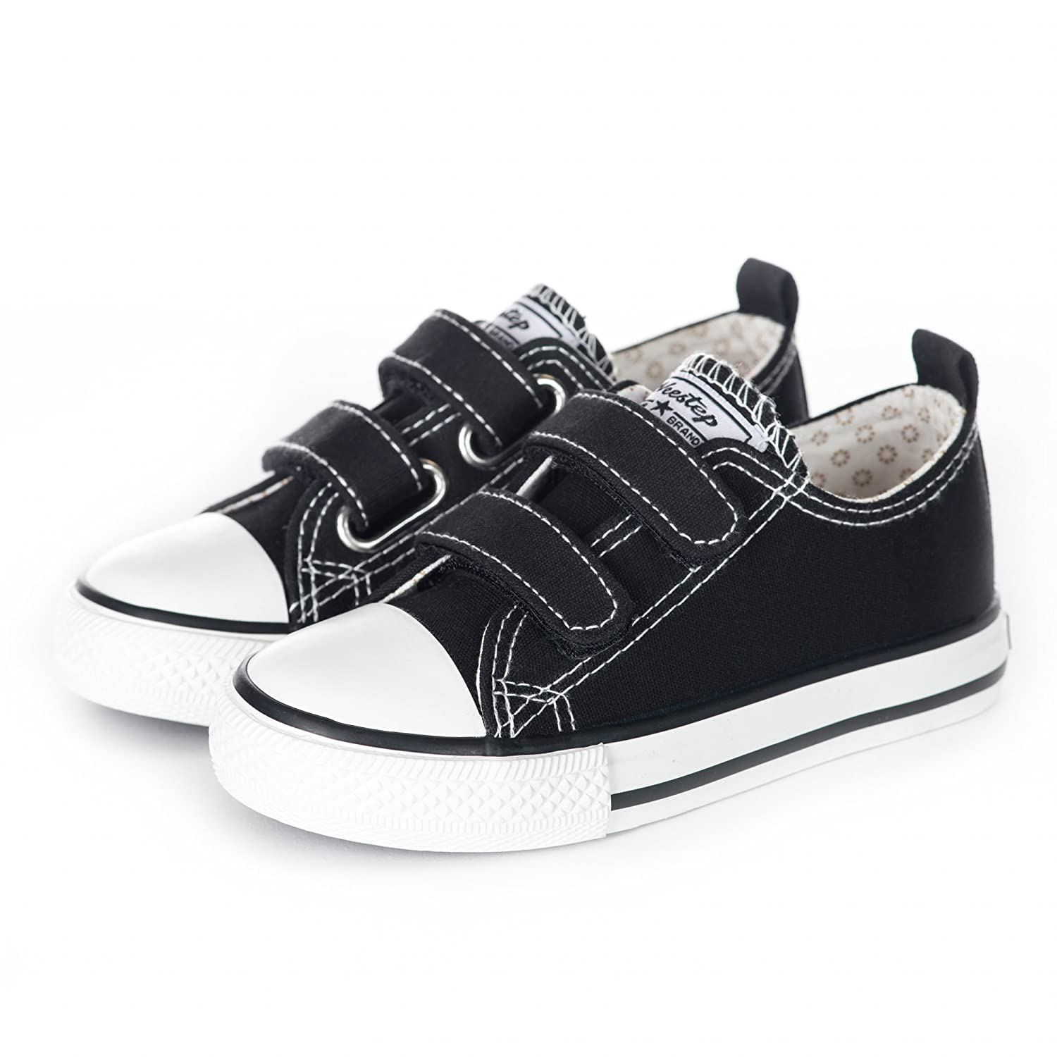 Weestep Toddler//Little Kid Boy and Girl Classic Adjustable Strap Sneaker