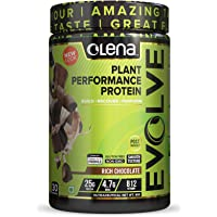 Olena EVOLVE Vegan Performance Plant Protein 1KG, 25G Protein, Rich Chocolate Flavour, Digestive Enzymes, Vitamin B12, Recovery Antioxidants, 1kg (30 Servings, No Sugar Added)
