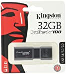 Pendrive DataTraveler 100G3 32GB, Kingston, Pendrives, Preto