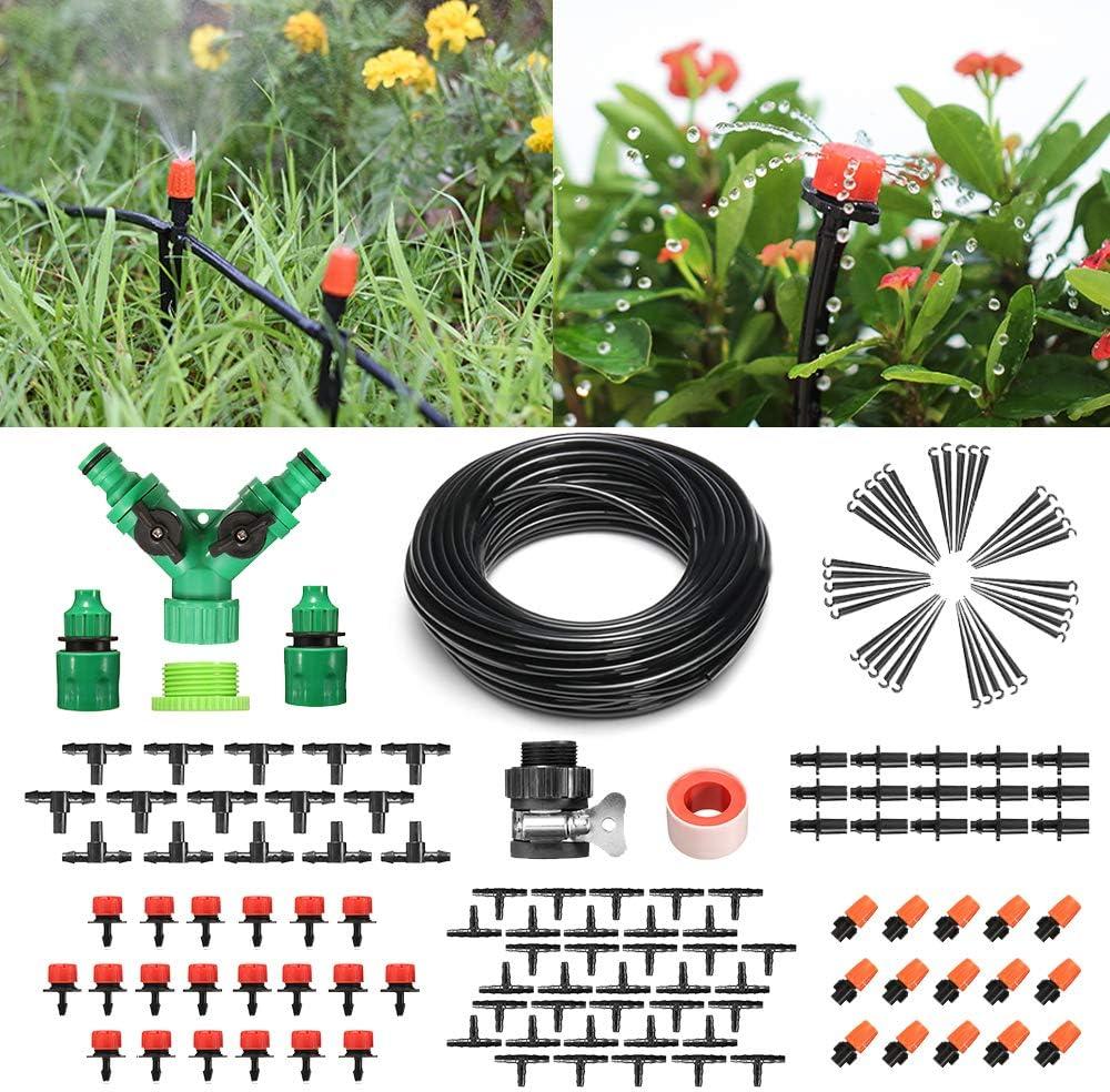 Micro-Drip Bewässerung Set Garten Rasen Blumen Bonsai 40m Eingetopft Früchte