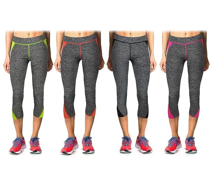 a6478737fd607 H722 Leggings deportivos para mujer de tejido técnico para el gimnasio -  Amarillo