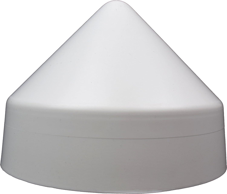 Xcel Polyethylene Dock Piling Cap Round Cone 8.5 Inch White