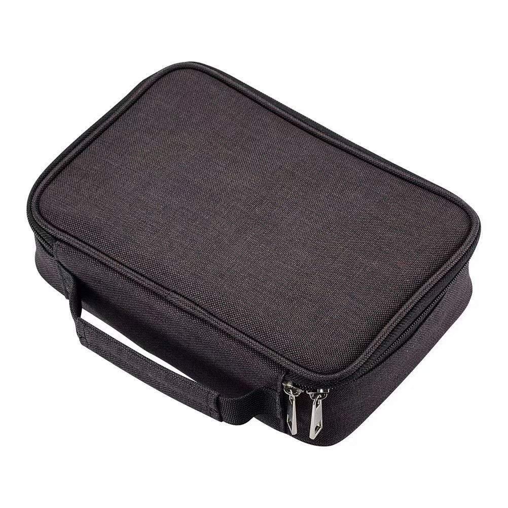 Pen Storage Case Large Capacity Pen Holder Pouch Pen Bag for 2 Slots Black