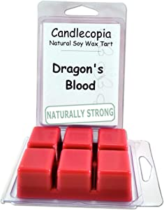 Candlecopia Dragon's Blood Strongly Scented Hand Poured Vegan Wax Melts, 12 Scented Wax Cubes, 6.4 Ounces in 2 x 6-Packs