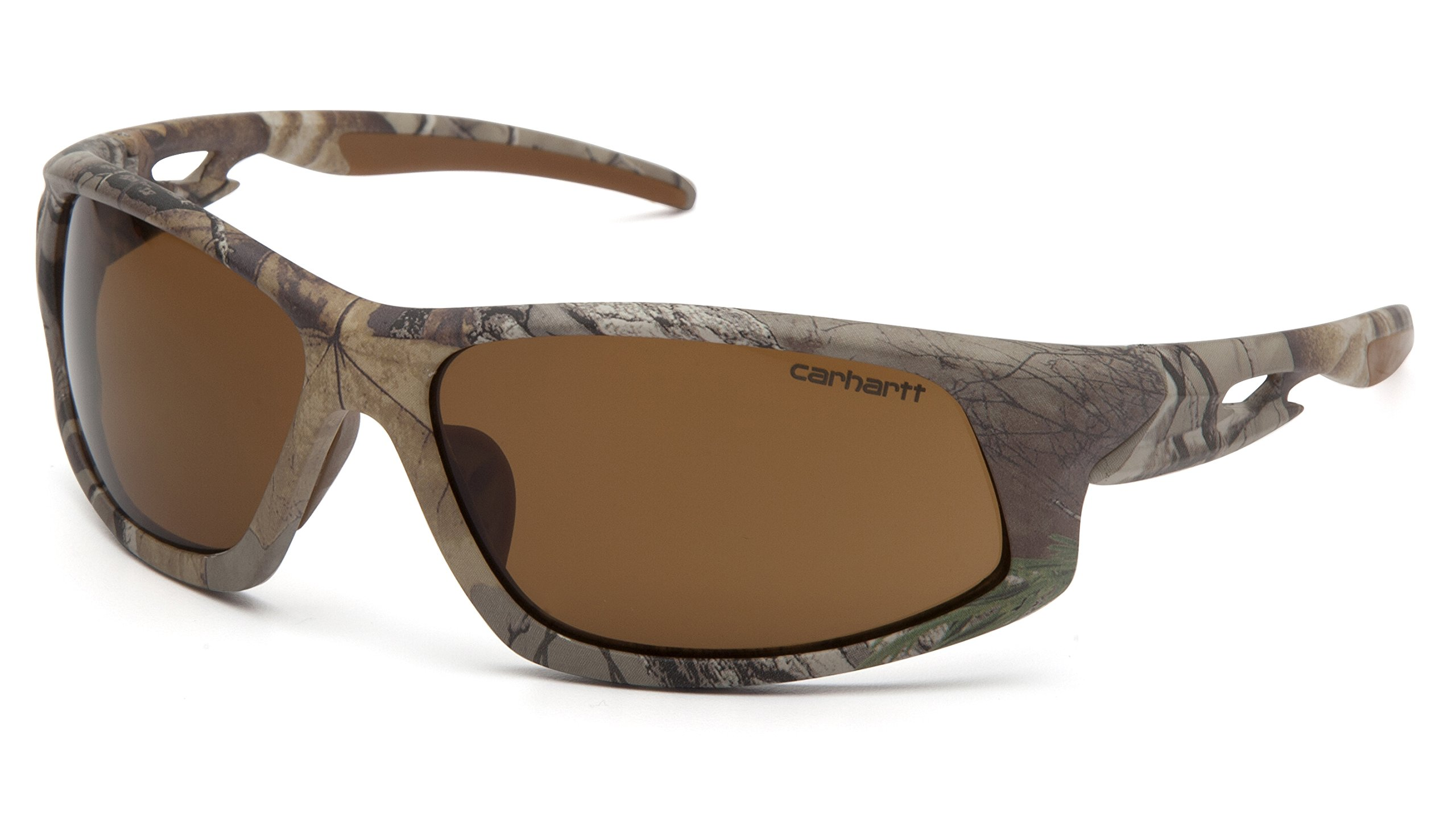 Carhartt Ironside Safety Glasses, Retail Clamshell Packaging, Realtree Xtra Frame, Sandstone Bronze Anti-Fog Lens