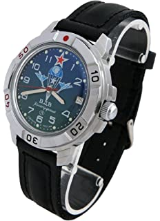 Vostok Komandirskie 431818 / 2414A Military Special Forces Russian Watch Green VDV Paratrooper