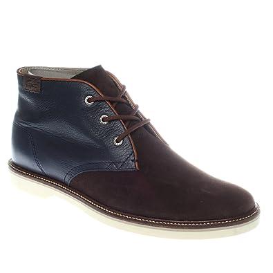41ab3206f Lacoste Men s Sherbrooke Hi 7 Srm Leather Suede Boot Blue   Dark Brown ...