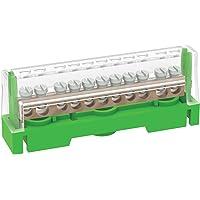 Arnocanali T1611A - Regleta de tierra para conexiones equivalentes con tapa, con barra de latón de 11 orificios…