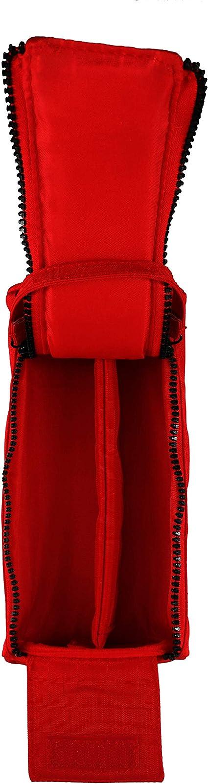 Estuche Escolar Rojo Sampack 2 Cremalleras 1 Comportamiento 1 Separador 11 x 6 x 23 cm: Amazon.es: Oficina y papelería
