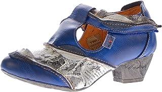 TMA Leder Damen Spangen Pumps viele Farben Echt Leder Comfort Schuhe 6716 Halbschuhe Gr. 36-42