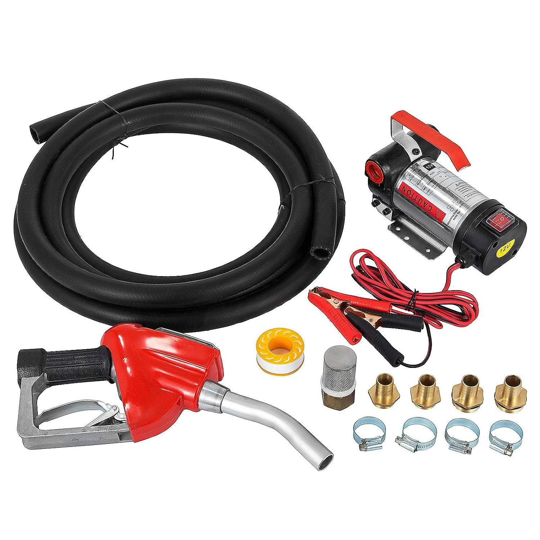 Mophorn Elektische Dieselpumpe 600W /Ölf/örderpumpe 40 L//min Heiz/ölpumpe 2850 U//min mit Schlauchgarnitur und Zapfpistole 600W