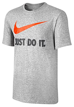 93d9897d Nike Just Do It Swoosh Men's Short-Sleeved T-Shirt: Amazon.ae