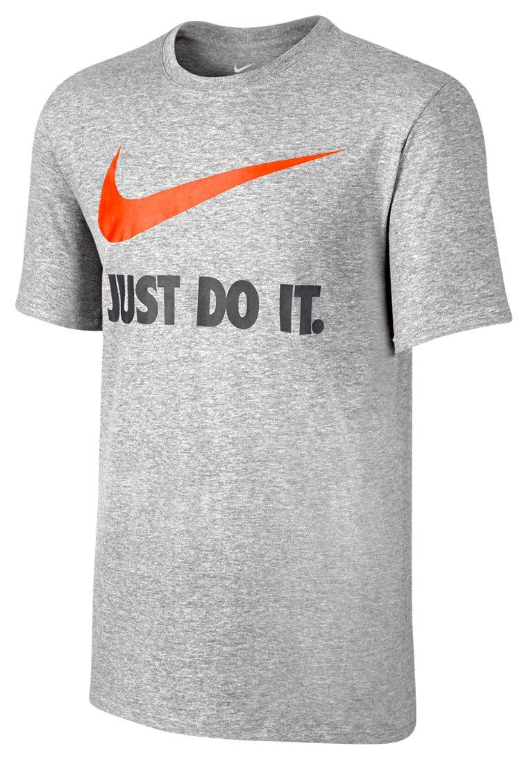 Nike Men's New Just Do IT JDI Swoosh T-Shirt, Dark Grey Heather, S