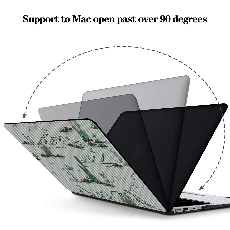 MacBook Pro Case 2018 Wilderness Nature View Sun Cactus Tree Plastic Hard Shell Compatible Mac Air 11 Pro 13 15 Case for MacBook Protection for MacBook 2016-2019 Version
