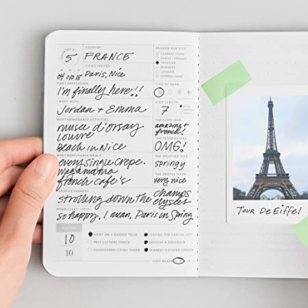 Amazon.com : Country Passport Journal - Pocket-Sized Travel Book by Letterfolk : Office Products