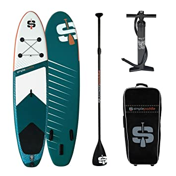 SIMPLE PADDLE Stand Up Paddle hinchable 10 6 323 cm, Pagaie SP Alu et
