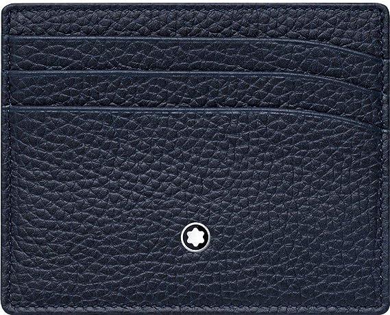 Montblanc Meisterstück Soft Grain Tarjetero 10 Centimeters Azul (Blau): Amazon.es: Equipaje