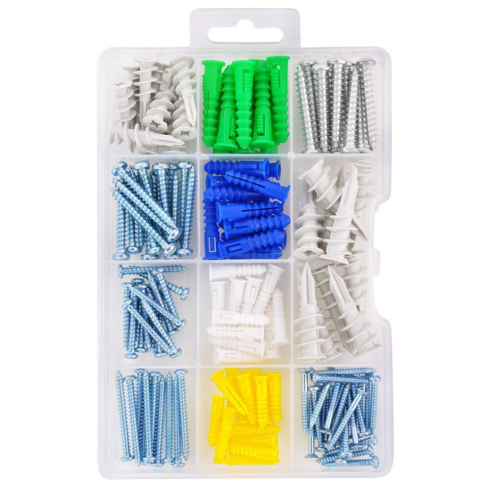 HomeDone Drywall and Wall Anchor Kit 150-Pieces, Anchors with Screws