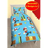 nintendo super mario brothers wende bettw sche 135x200 48x74 cm k che haushalt. Black Bedroom Furniture Sets. Home Design Ideas