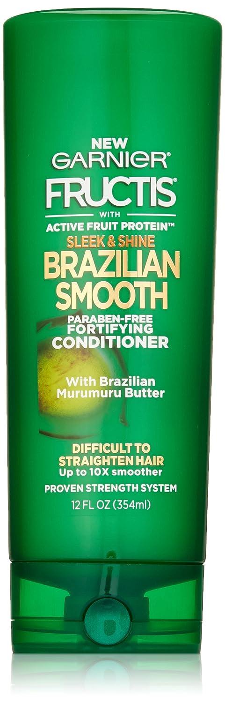 Garnier Fructis Sleek & Shine Brazilian Smooth Conditioner, 12 fl. oz.