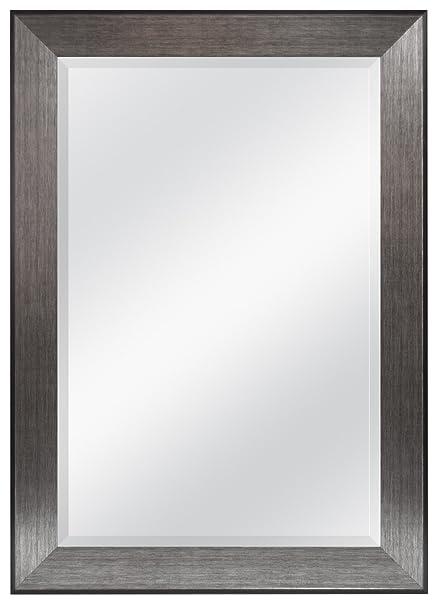 MCS acabado peltre 60,96 x 91,44 cm espejo biselado con 76,71 cm por ...