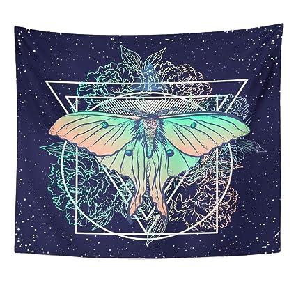 Amazon Com Emvency Tapestry 50 X60 Mandala Indian Hippie Wall