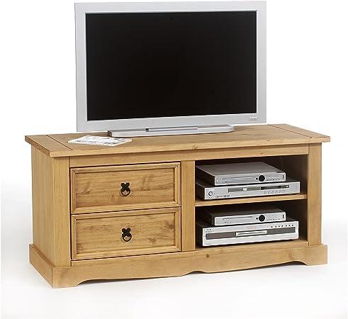 Idimex-Mueble para televisor madera de pino, acabado de barniz, 2 ...