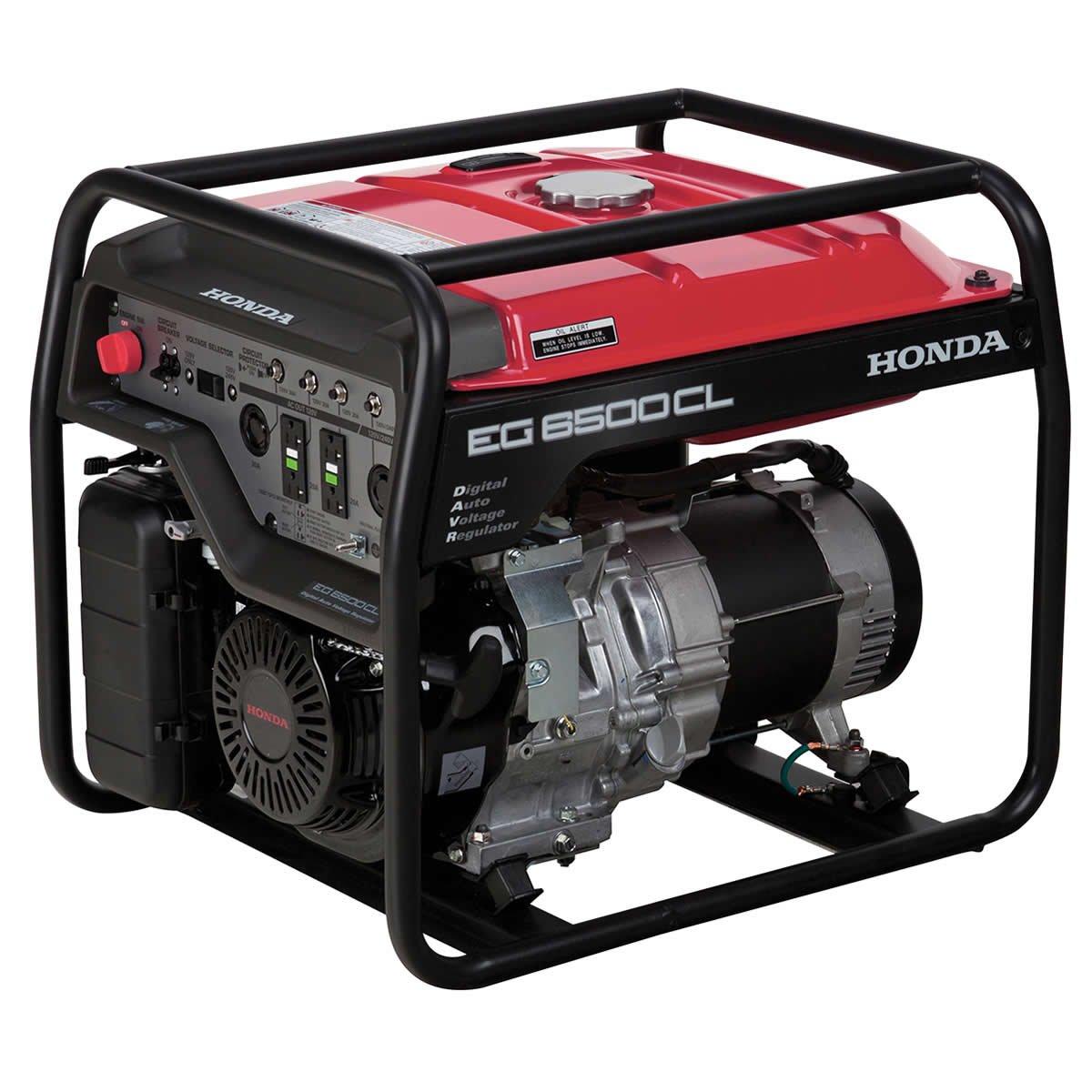 Amazon.com: Honda Power Equipment EG6500CLAT 655690 6,500W Portable  Generator with DAVR Technology CARB, Steel: Industrial & Scientific