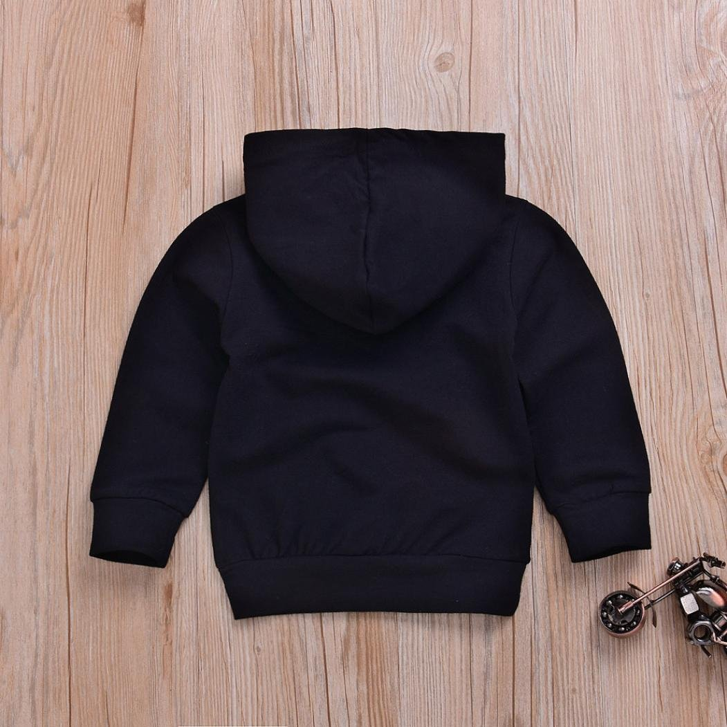 Jujunx Baby Sweatshirts, Iuhan Toddler Boys Hooded Infant Letter Blouse Hoodies Tops Pullover Sweater Outfits (12Months, ❤️❤️Black) Iuhan ®