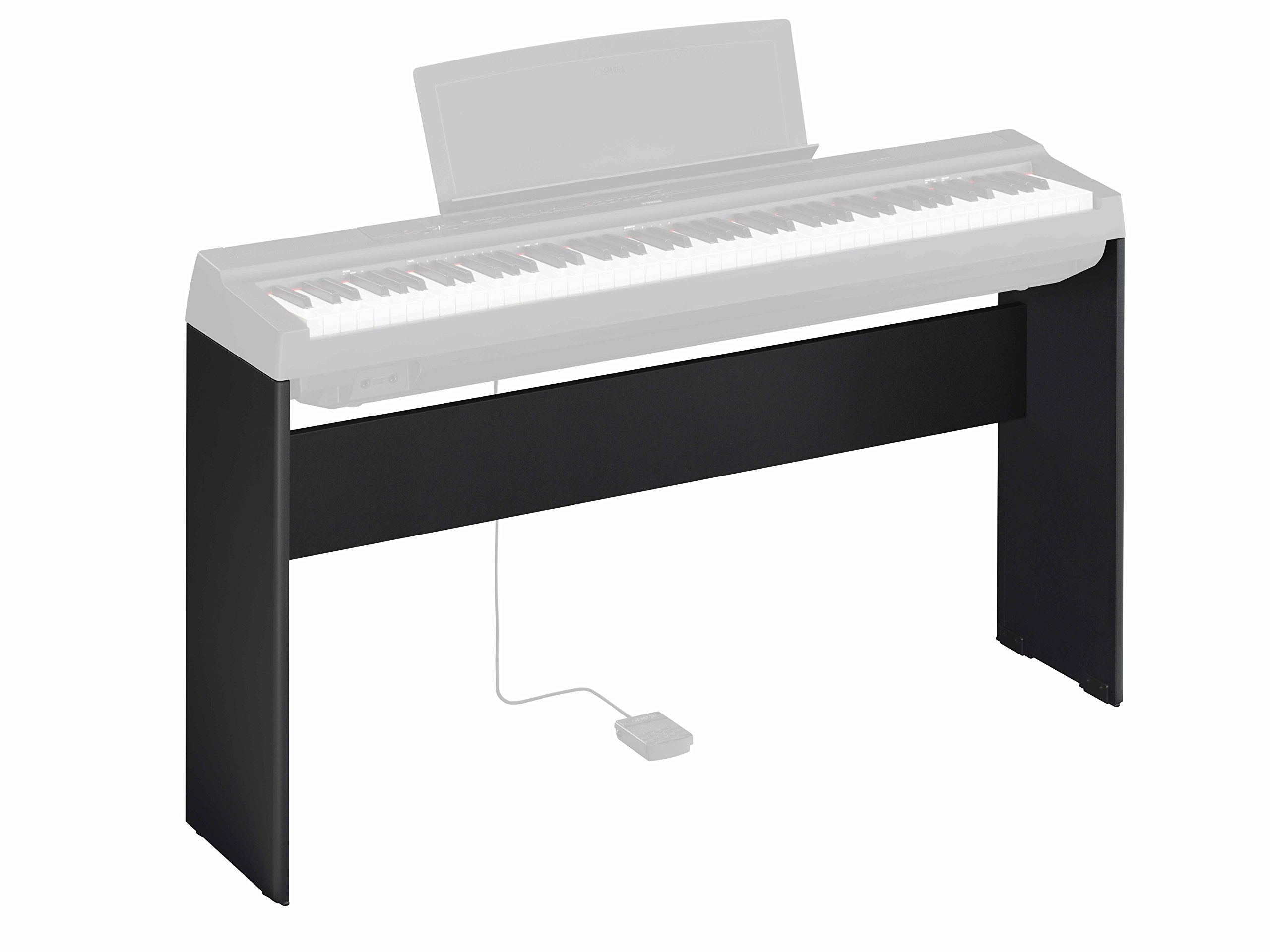 Yamaha P-125 Digital Piano - Black Bundle with Yamaha L-125 Stand, LP-1 Pedal, Furniture Bench, Dust Cover, Instructional Book, Online Lessons, Austin Bazaar Instructional DVD, and Polishing Cloth by Yamaha (Image #5)