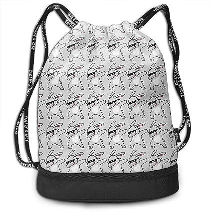 790fc3e298e4 Amazon.com: Adair Guy Unisex Drawstring Backpack Dabbing Easter ...