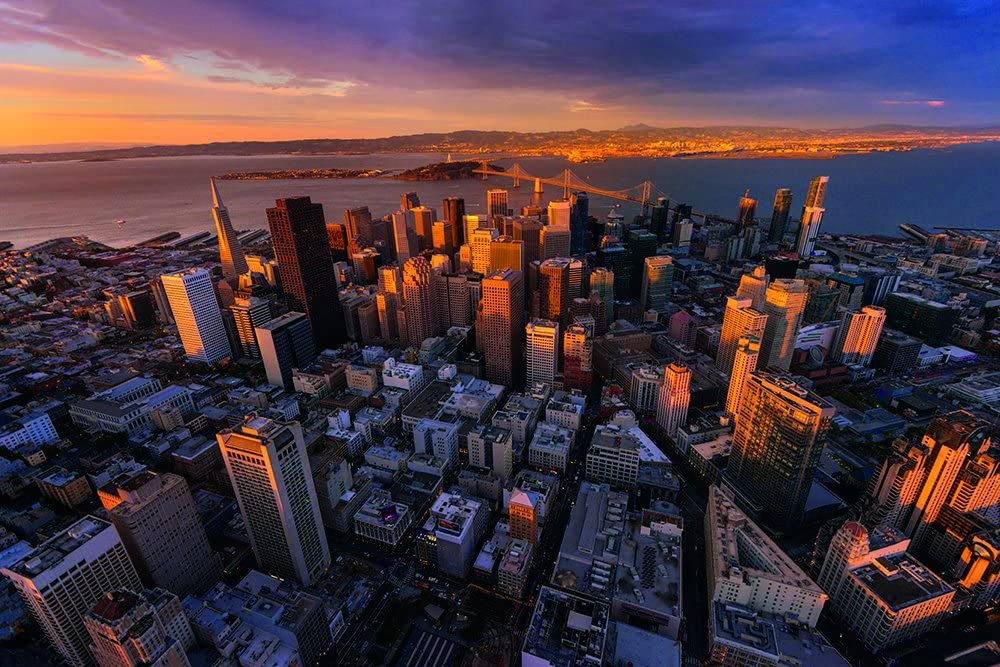 Photos.com by Getty Images Antena View San Francisco Póster ...