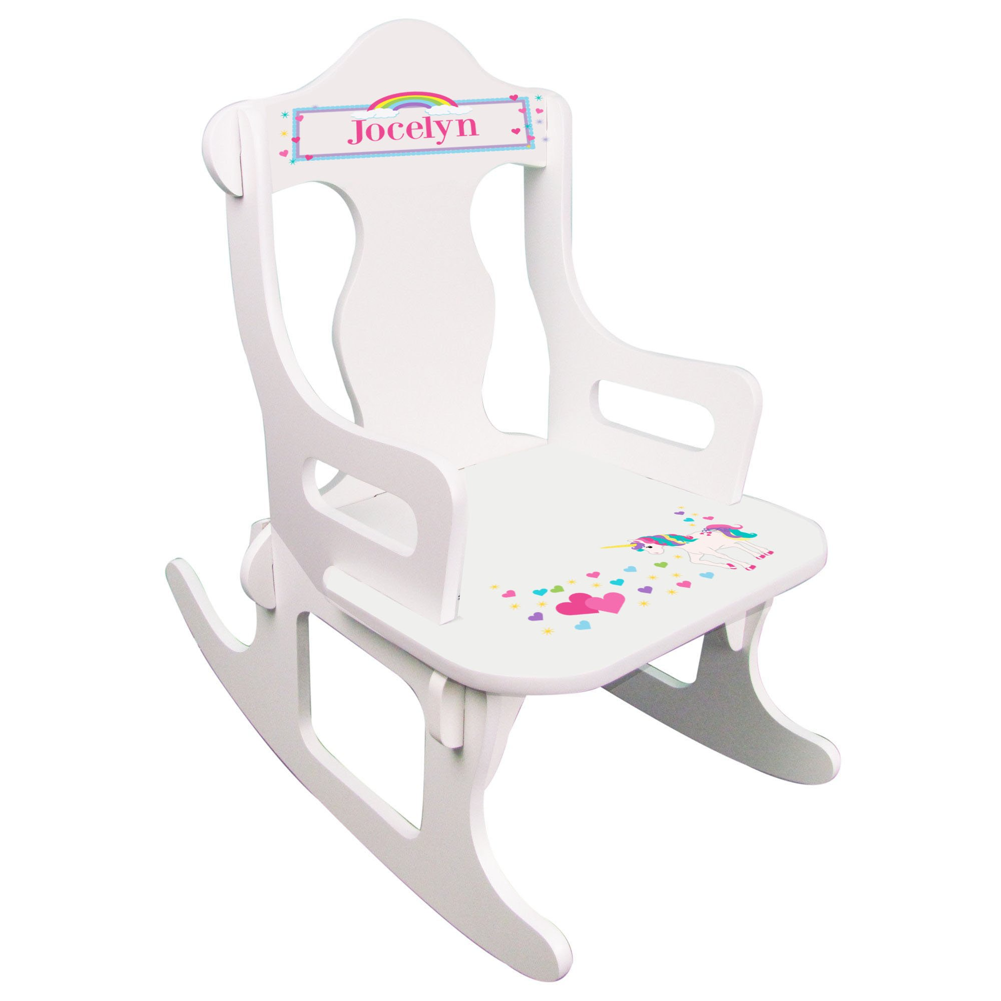 Personalized Unicorn Puzzle Rocker