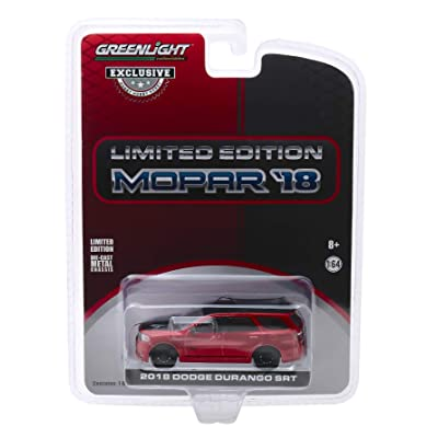 """2020 Dodge Durango SRT Octane Red and Black Limited Edition Mopar '18""""Hobby Exclusive 1/64 Diecast Model Car by Greenlight 30131: Toys & Games"""