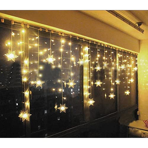 hownew x led snowflake curtain lights outdoorindoor waterproof string fairy decoration lights for