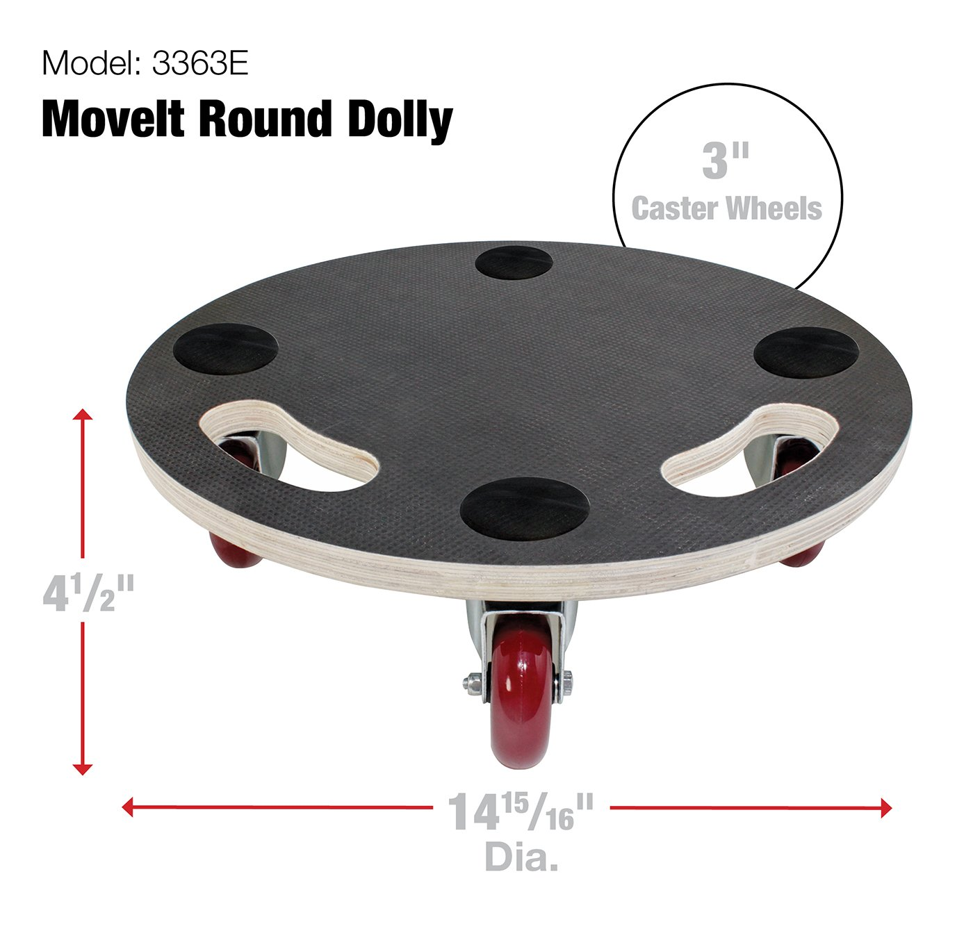 """2/"""" Cast Iron Swivel Plate Caster Metal Wheel Replacement 125 lbs Load Rating 1pc"""