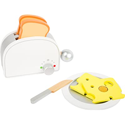 Small Foot Wooden Toys Breakfast Set Including Toaster, Toast and Much More a Complete playset for Play Kitchens Designed for Children Ages 3+: Toys & Games