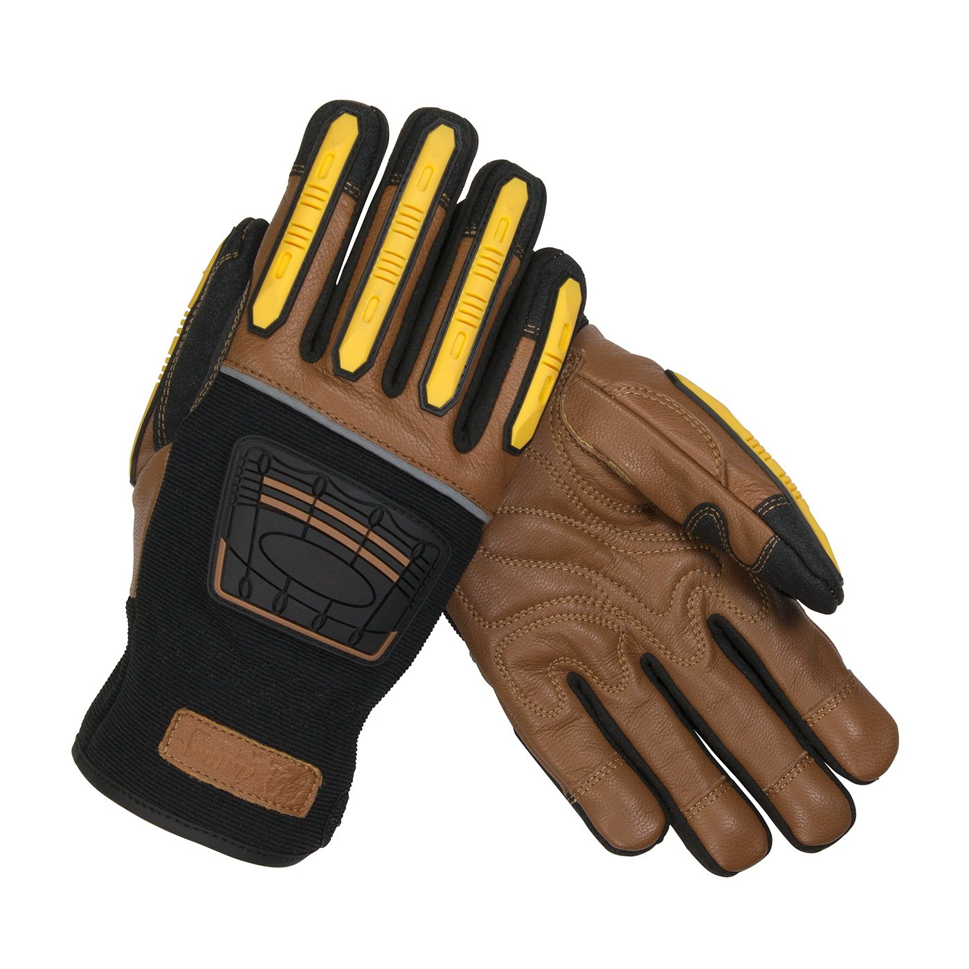Maximum Safety 120-4150/XXXL Reinforced Goatskin Leather Palm Glove with Leather Back, Kevlar Lining and TPR Molded Knuckle and Dorsal Guards by Maximum Safety (Image #1)