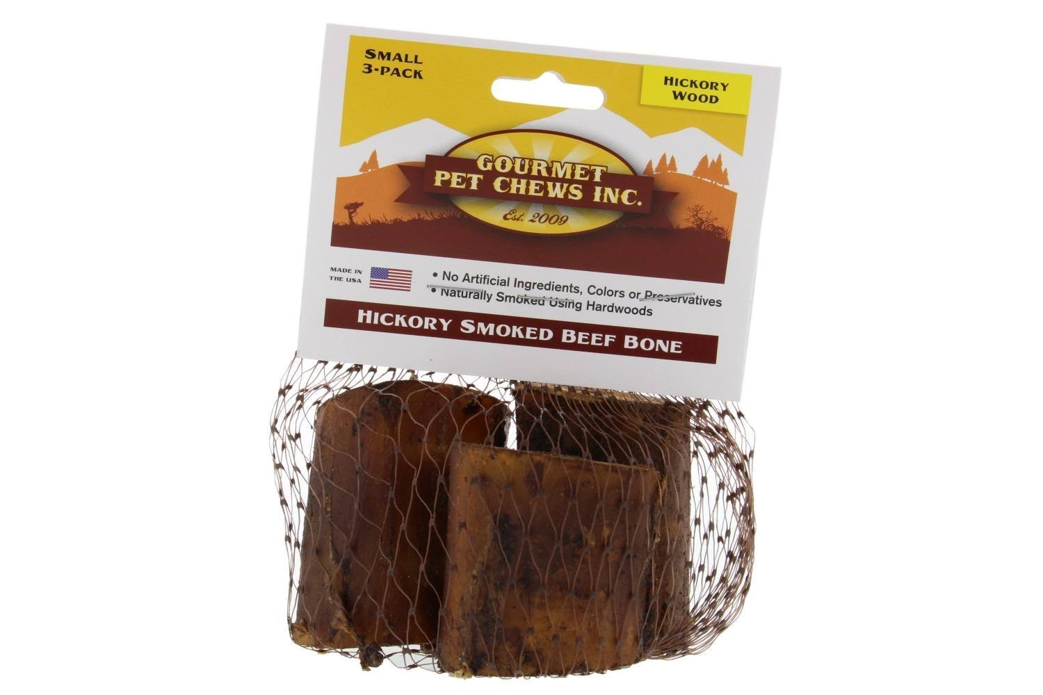 Venison joe' S Small Hickory smoked Beef Bone, 3 count