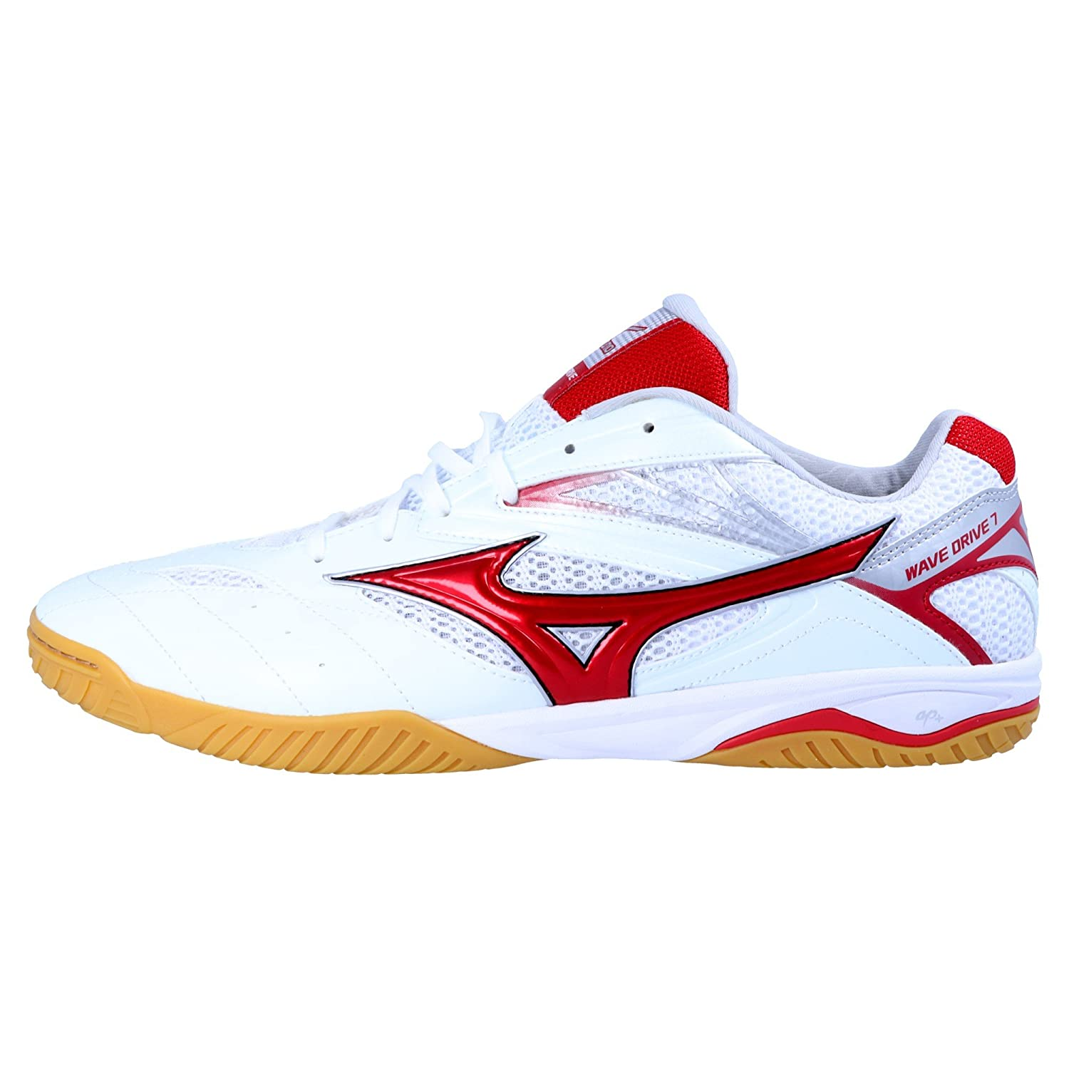 Mizuno Mens Wave Drive 8 Table Tennis Shoes Red White Sports Breathable