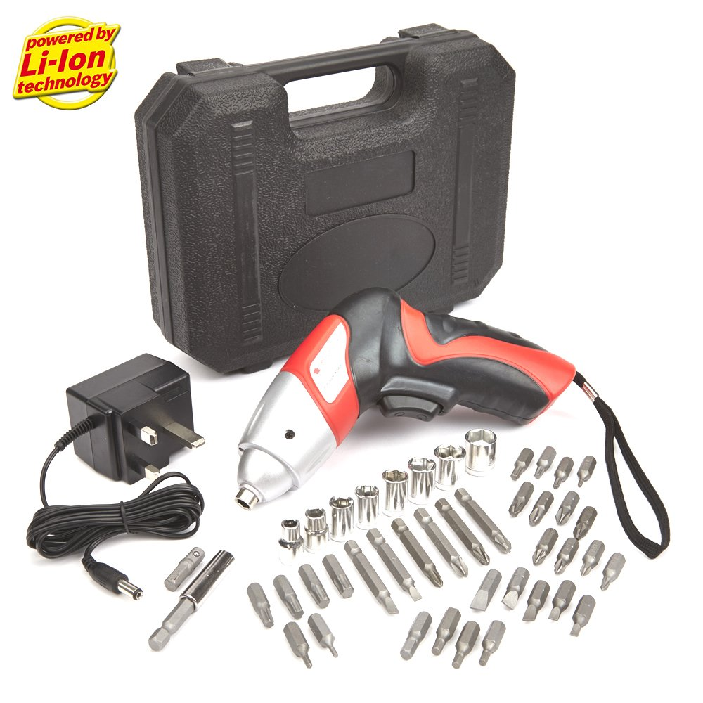 NEW TRUESHOPPING 3.6V ELECTRIC CORDLESS RECHARGEABLE SCREWDRIVER COMPACT AND LIGHTWEIGHT WITH A STURDY CARRY CASE AND CHARGER INCLUDED