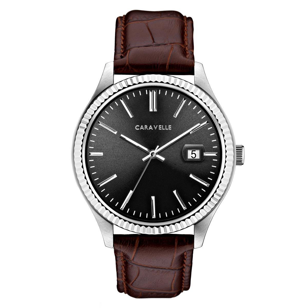 Caravelle by Bulova Men's Leather Strap Dress Watch