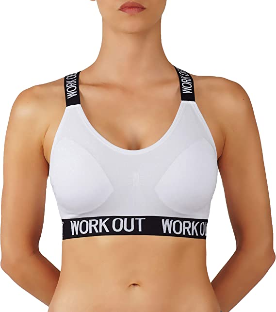 new lifestyle great fit shop best sellers Pro Fit Women's Sports Bra Cotton/Nylon Blend Yoga Pullover ...