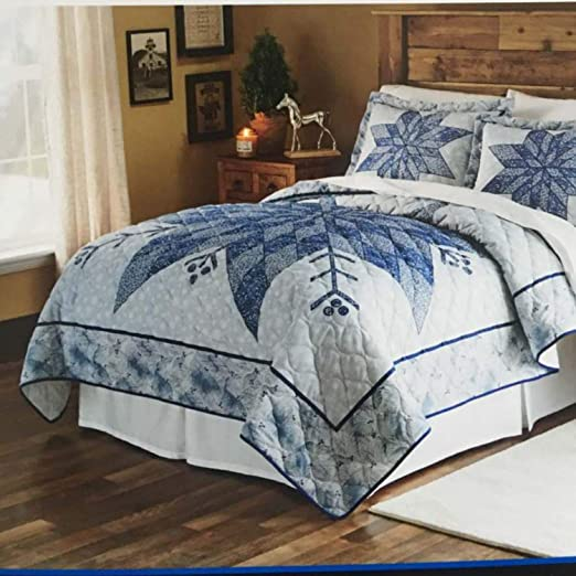 Mainstays Navy Floral Quilted King Size Pillow Sham 1 Piece New