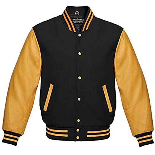 27c5a776a Premium New Letterman Baseball College School Varsity Jacket Wool Real  Leather